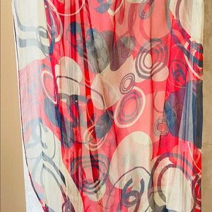 Chanel abstract silk chiffon scarf